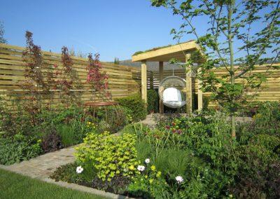 A sculptural garden brazier