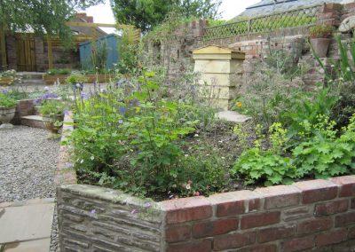 Terraces in the garden